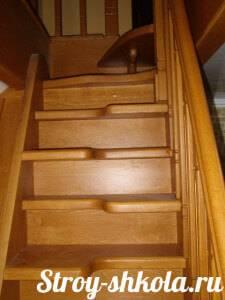 Лестница «гусиный шаг»: выбор материалов, расчет ступеней, рекомендации по изготовлению своими руками