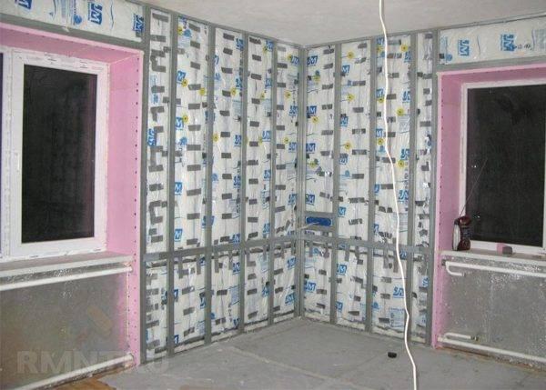 Утепление изнутри стены в панельном доме