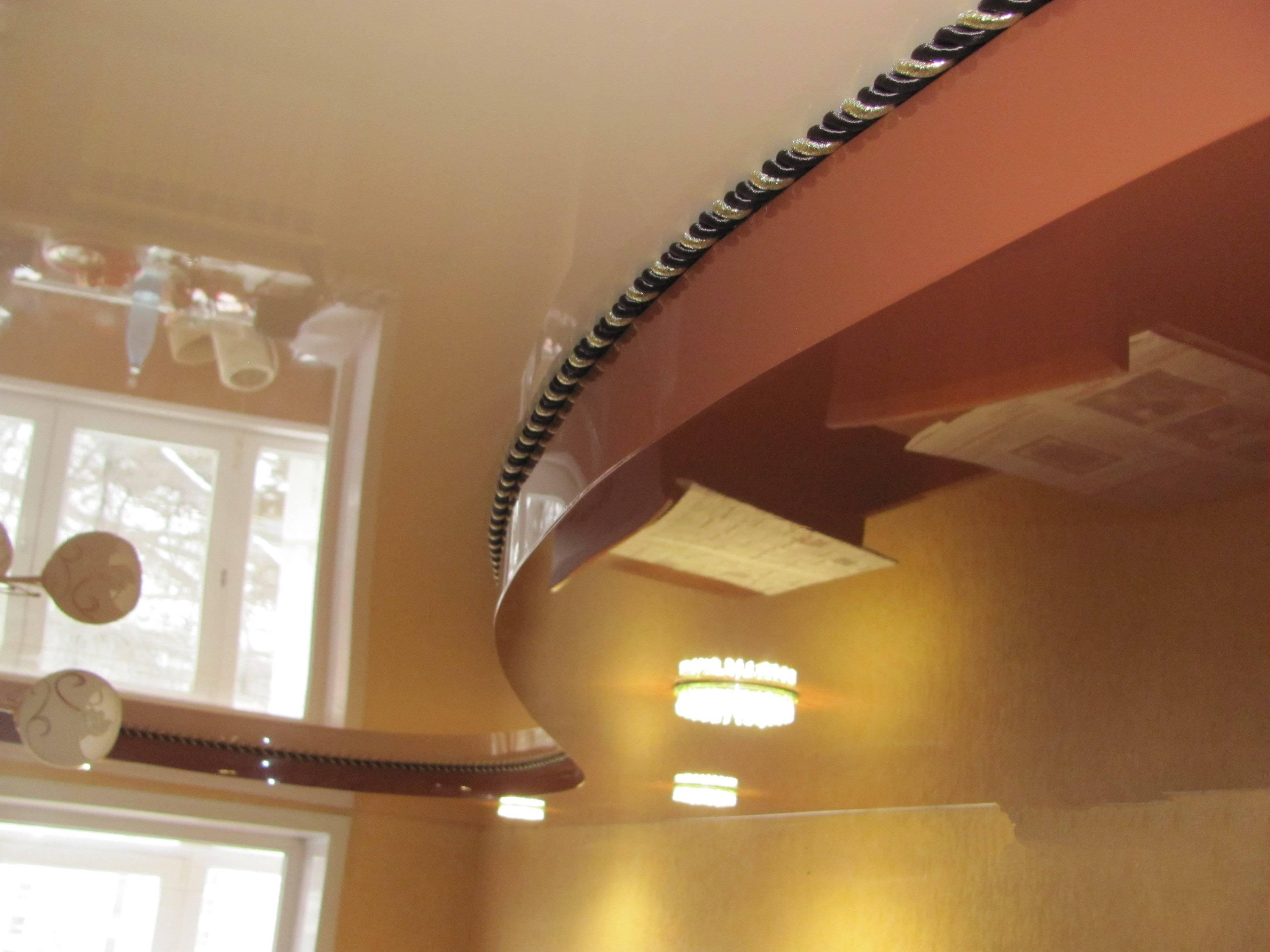 Маскировочная лента для натяжных потолков: вставка, декоративный шнур и окантовка