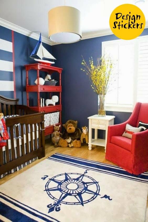 Детская комната в морском стиле для мальчика и девочки