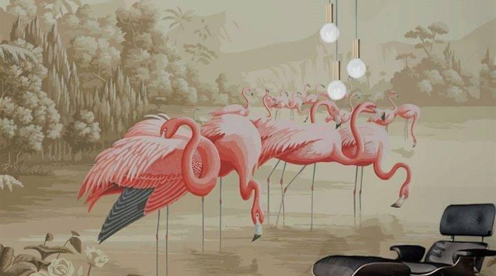 Обои с птицами: виды, дизайн, комбинирование рисунков, 59 фото в интерьере