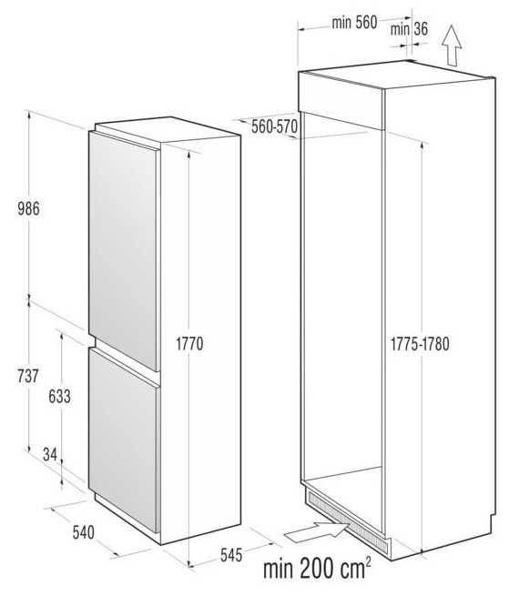 Размеры холодильника: стандартные ширина и глубина