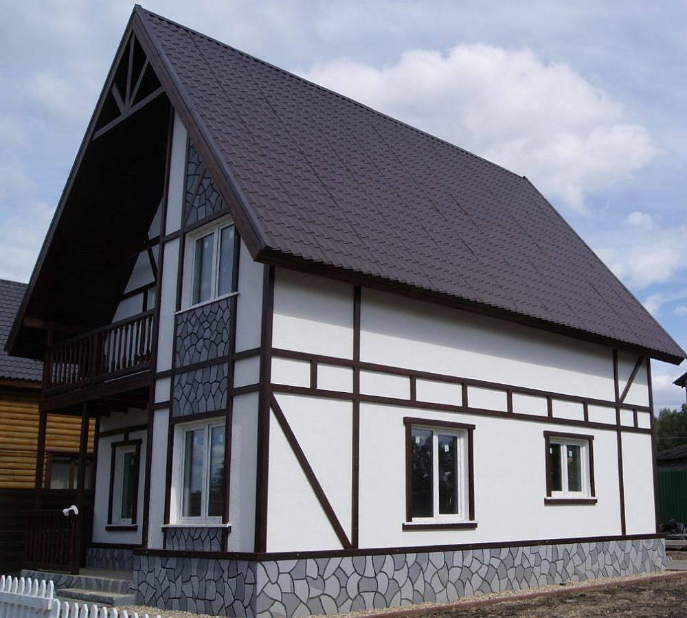 Отделка фасада дома в немецком стиле фахверк своими руками