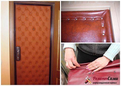 Как обновить входную дверь в квартире своими руками изнутри и снаружи, если это старая металлическая (железная) или деревянная конструкция, и вид на фото до и после