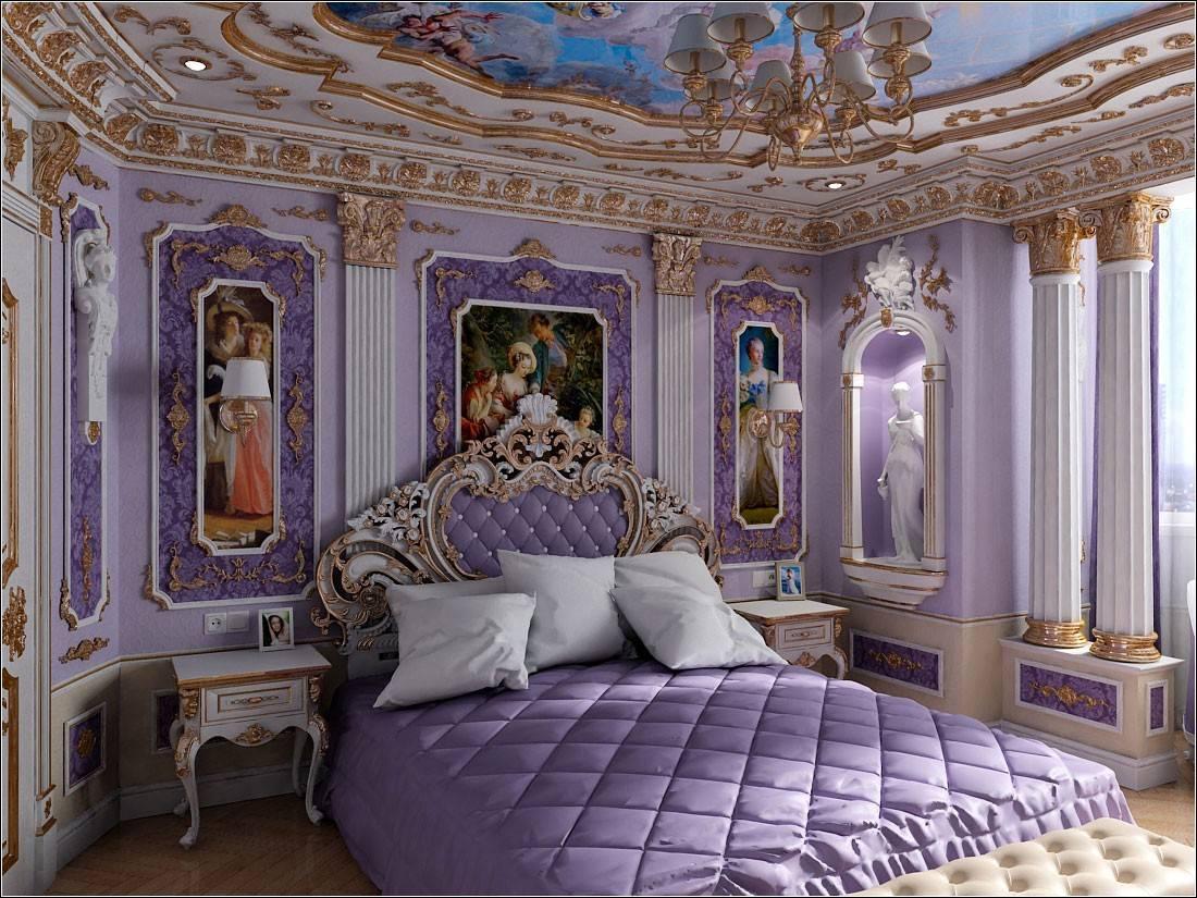 Спальня в стиле барокко — полезно знать
