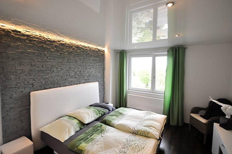 Натяжные  потолки в спальне: виды, идеи дизайна и советы по выбору