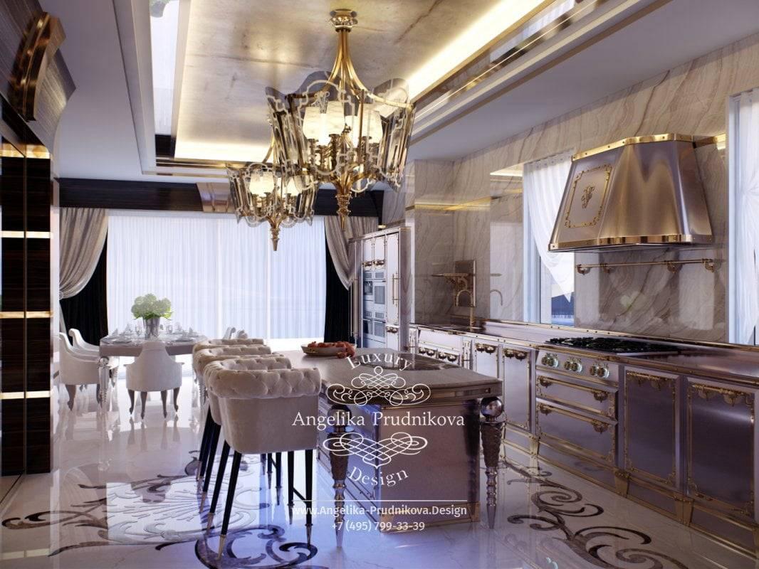 Кремовая кухня: дизайн интерьера и кухонного гарнитура, глянец на фасадах