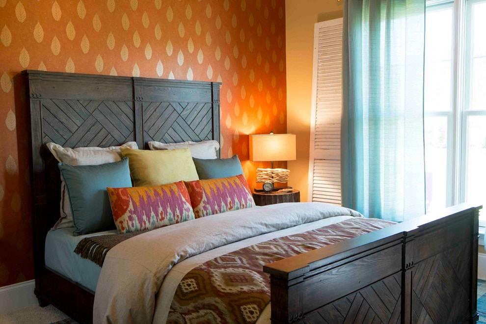 Персиковые обои (52 фото): примеры в интерьере, какие шторы и мебель подходят