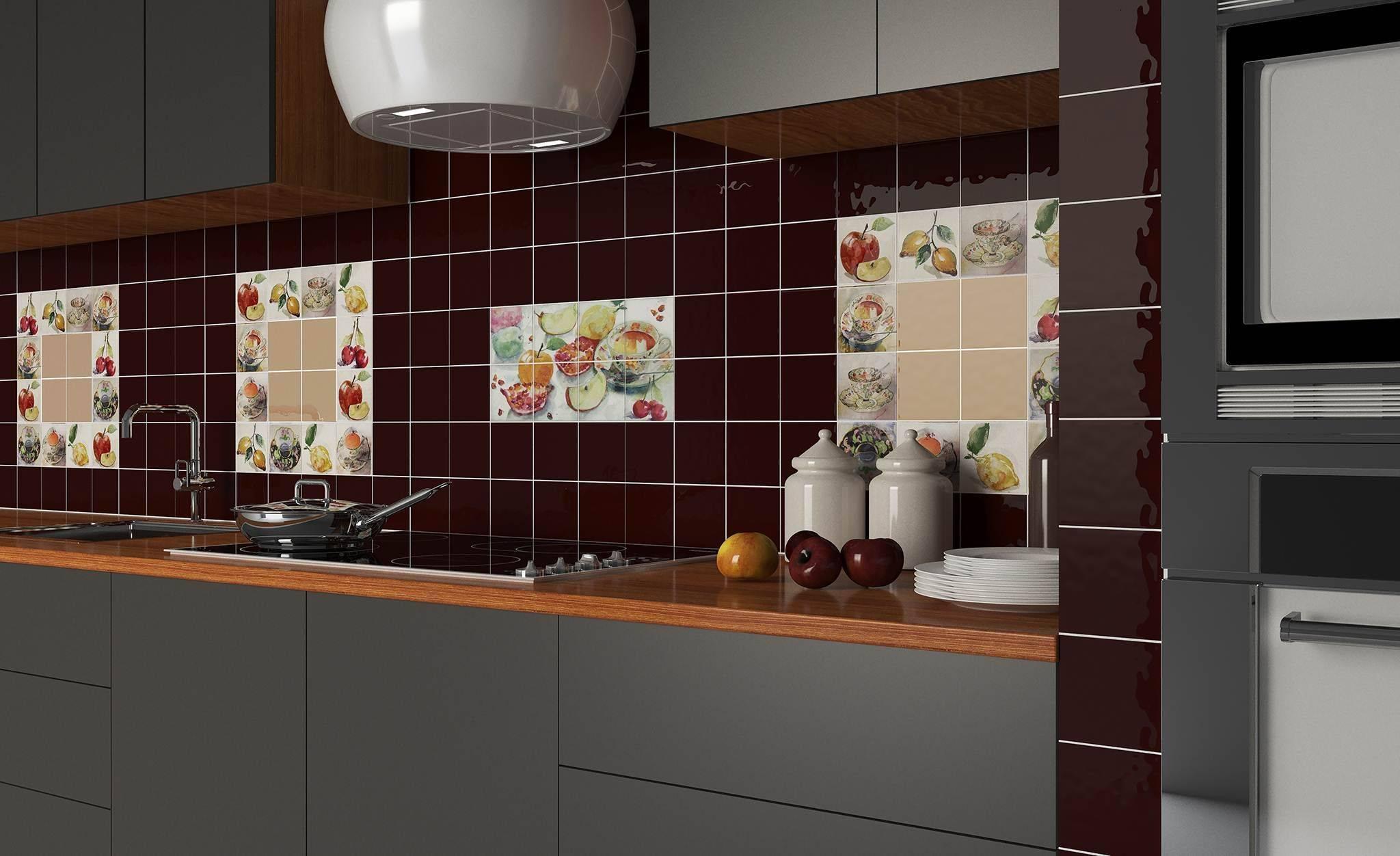 Плитка для кухни (86 фото): настенная кухонная плитка и отделка рабочей стены