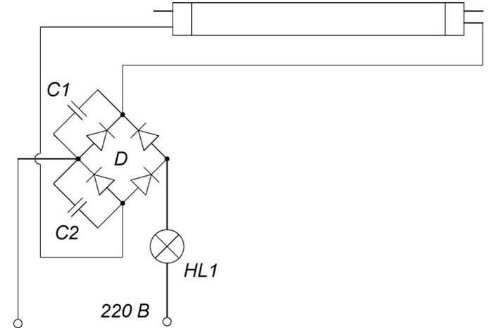 Назначение и подключение дросселя для ламп дневного света