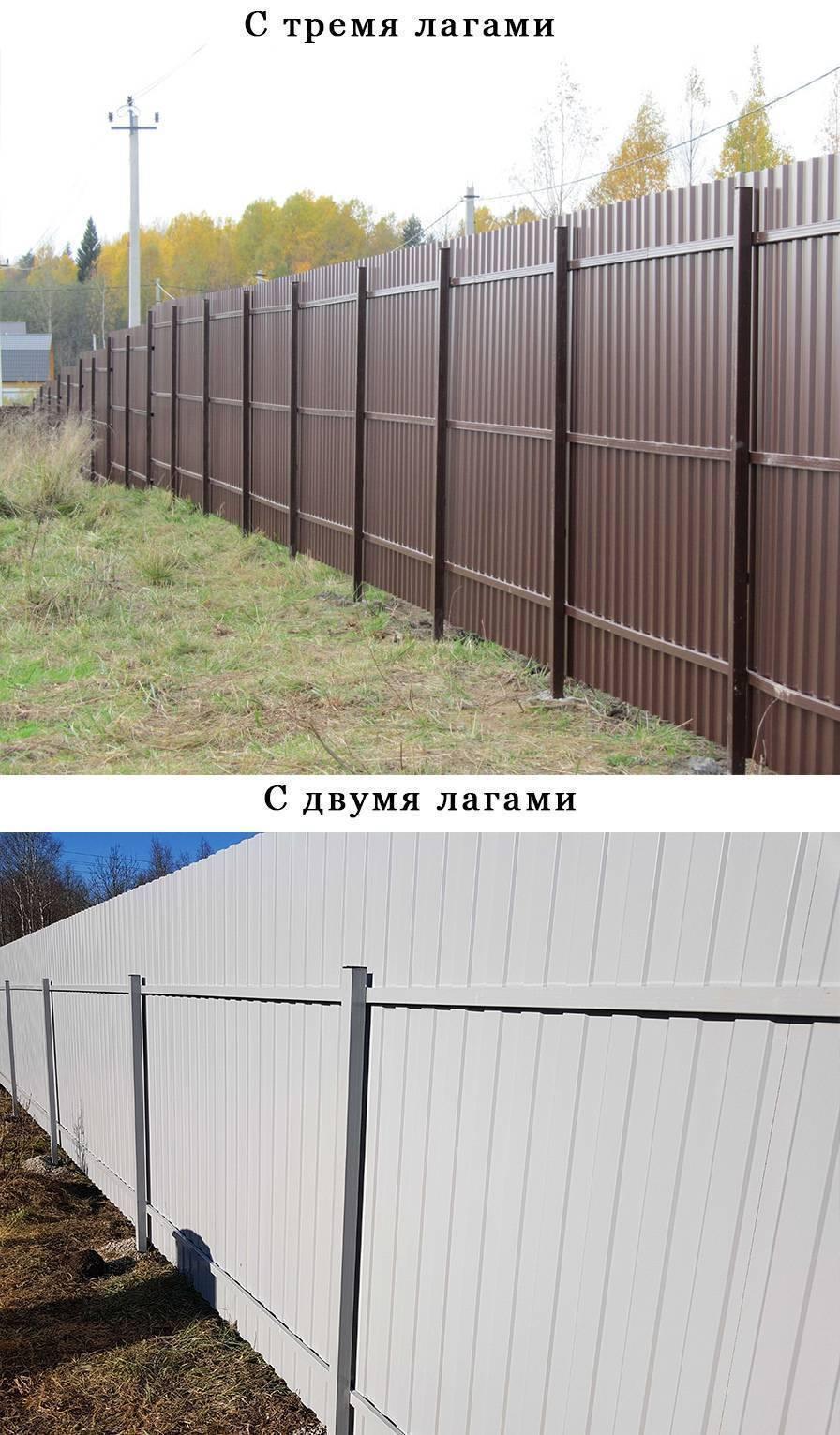 Забор и ворота из профнастила с калиткой своими руками: установка, фото и цена