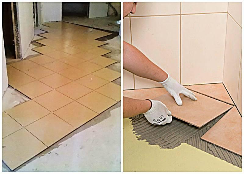 Укладка на пол плитки (96 фото): как положить напольное покрытие, как правильно класть изделия своими руками
