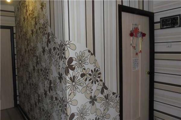 Оклейка стен разными обоями: фото комбинирования обоев + обзор лучших вариантов