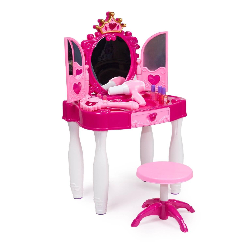 Детское трюмо с зеркалом для девочек: выбор стиля трюмо для подростков, модели со стульчиком для детей младшего возраста