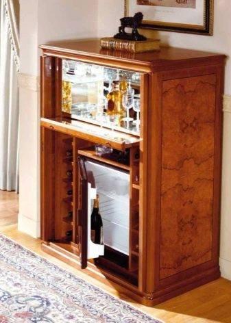Тумба бар для гостиной ( 31 фото): барная стойка в форме углового мини комода в интерьере, модели в виде витрины и серванта в современном стиле