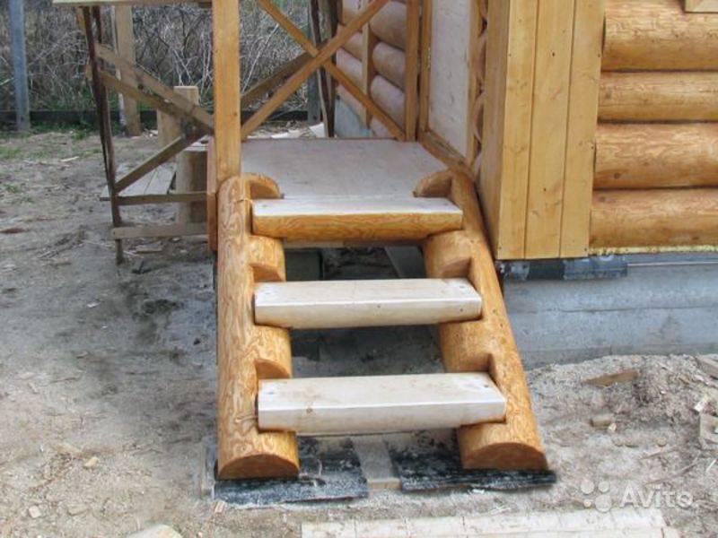 Установка лестницы в бане своими руками