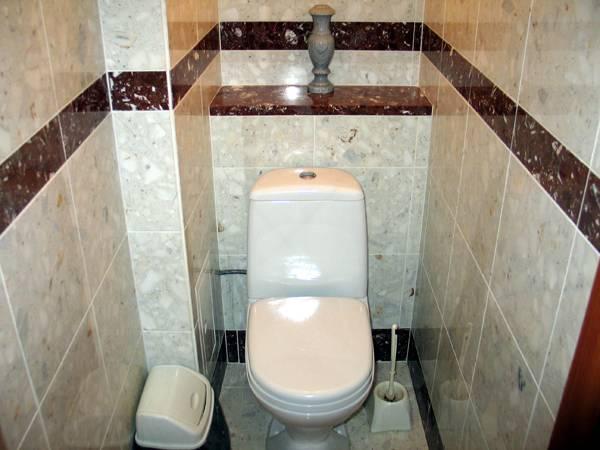 Чем отделать стены в туалете, кроме плитки, при скромном бюджете