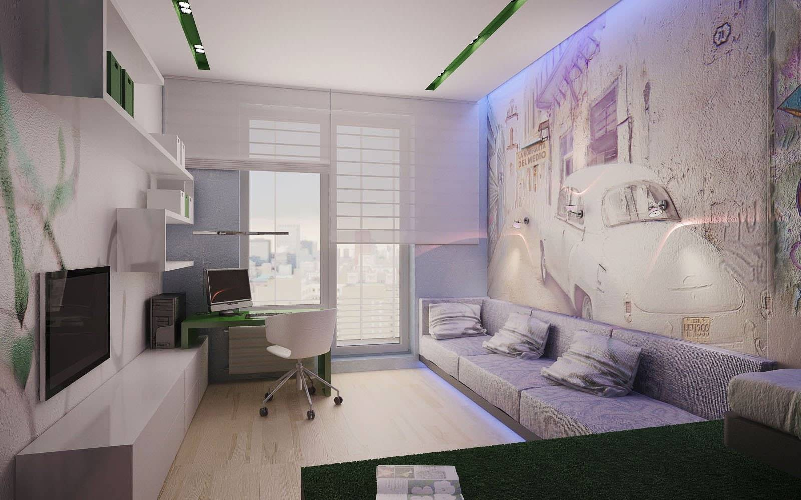 Дизайн спальни-кабинета: 75 оригинальных вариантов оформления