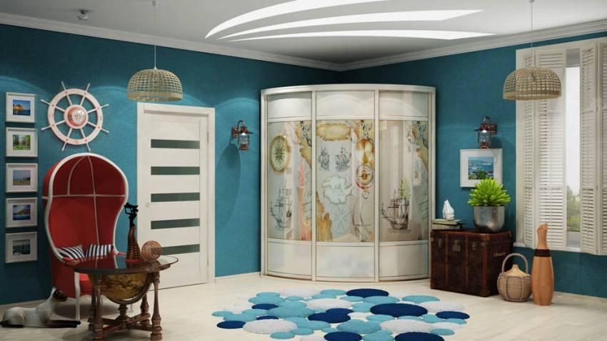 Радиусные шкафы - шикарный вариант современной мебели на фото!