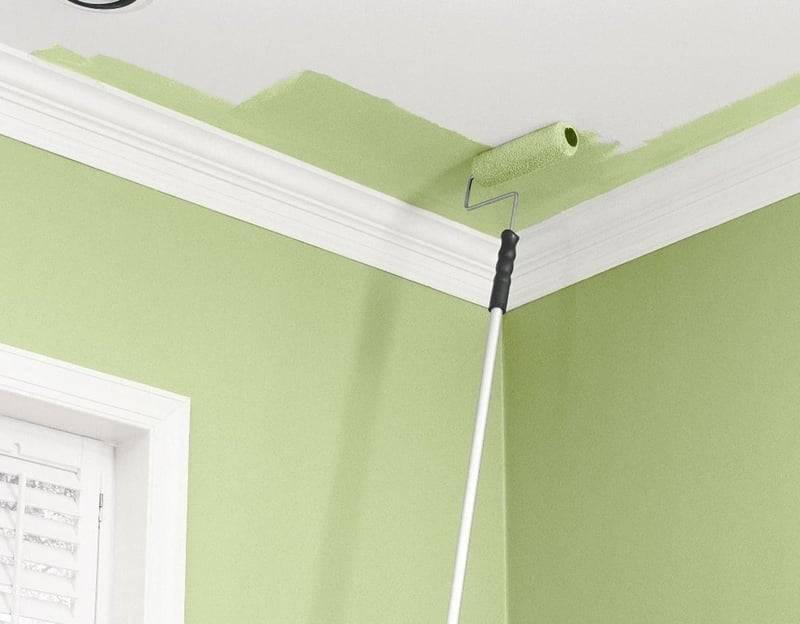 Пошаговая инструкция, как покрасить потолок: подбор красок и поэтапное описание нанесение краски своими руками
