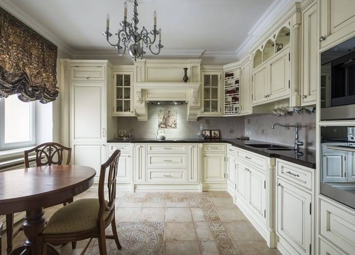 Английский (викторианский) стиль в оформлении кухни. Особенности, правила, советы