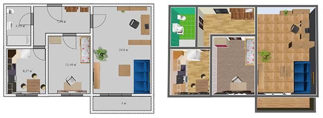 Планировка 3-х комнатной квартиры (50 фото): расположение трехкомнатной квартиры улучшенной планировки в «новостройках» и панельных домах, 3-х комнатные варианты