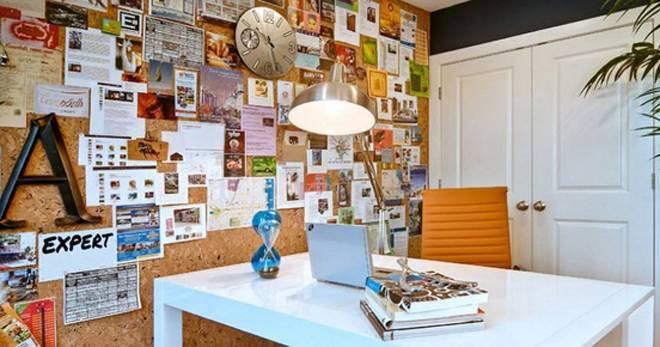 Декор стен своими руками: доски для заметок и тканевые панели