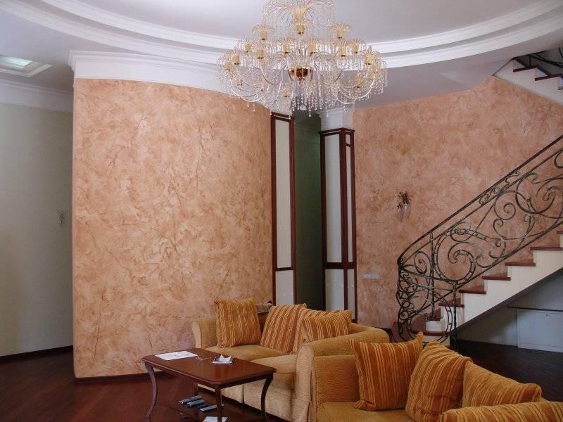 Венецианка на стенах: декоративная отделка венецианской штукатуркой