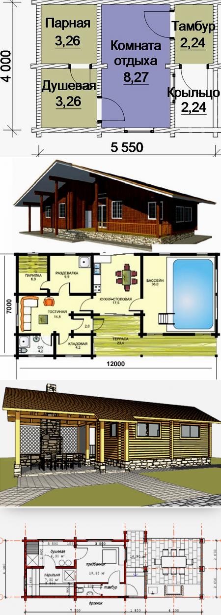 Баня 5 на 6: планировка, особенности составления проекта. варианты проектов бани 5х6 м   построить баню ру