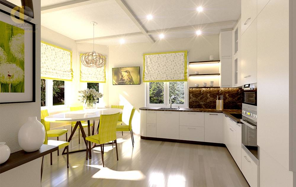 Особенности дизайна кухни с эркером