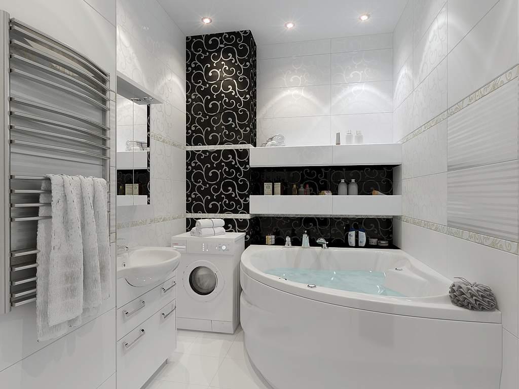 Белая плитка: 300+ (фото) в интерьере кухни/ванной/коридора