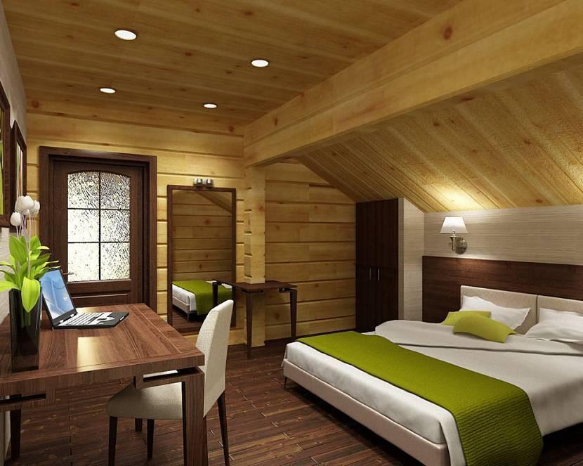 Оформление спальни в деревянном доме: 3 условия уюта