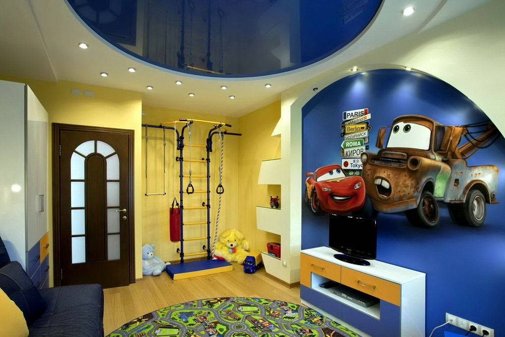 Натяжной потолок в детскую для мальчика