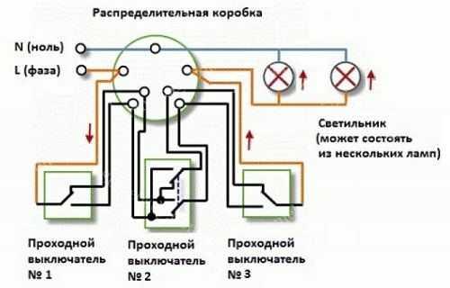 Как сделать проходной выключатель из обычного своими руками