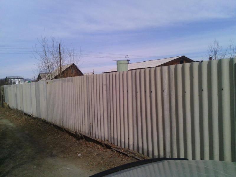 Забор из шифера своими руками - изготовление забора из шифера(+фото, схемы)   стройсоветы