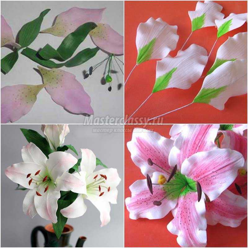 Цветы из фоамирана: 9 схем и шаблонов с фото