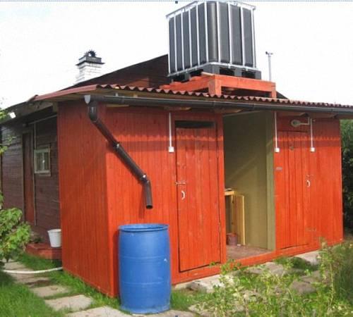Строим летний душ на даче своими руками: технология постройки и чертежи