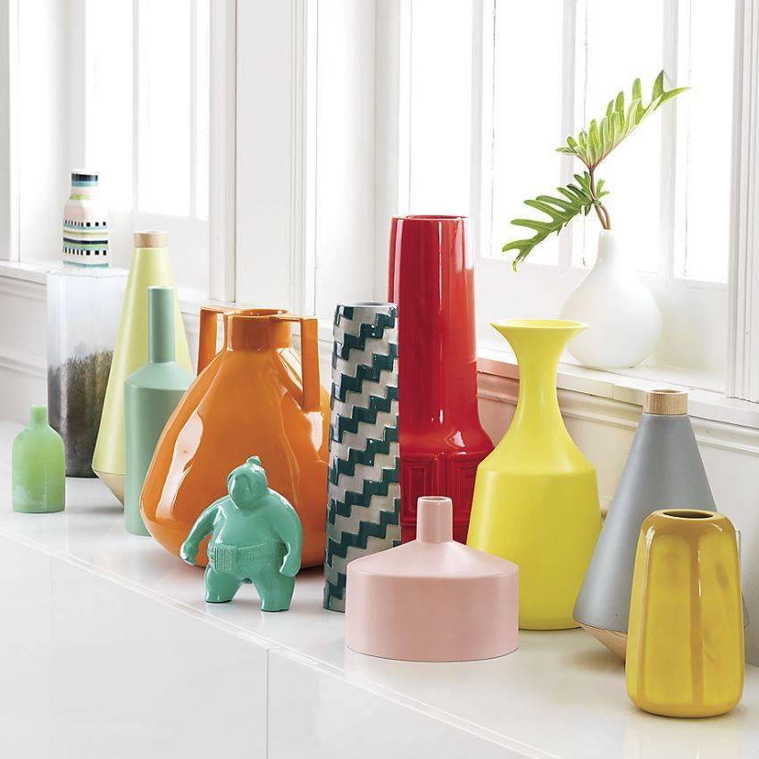 Украшаем интерьер напольной вазой  - 40 фото