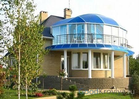 Крыша из поликарбоната для террасы: виды, описание с фото, монтаж своими руками
