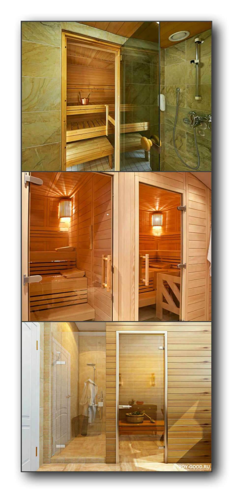 Стеклянные двери для сауны и бани: 1700х700 и иные размеры, установка и монтаж, отзывы владельцев