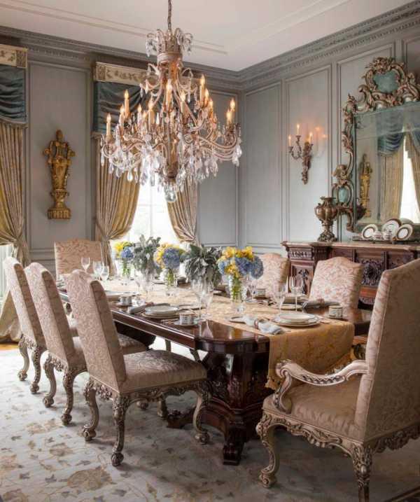 Шторы в стиле барокко: фото в интерьере спальни, зала, гостиной