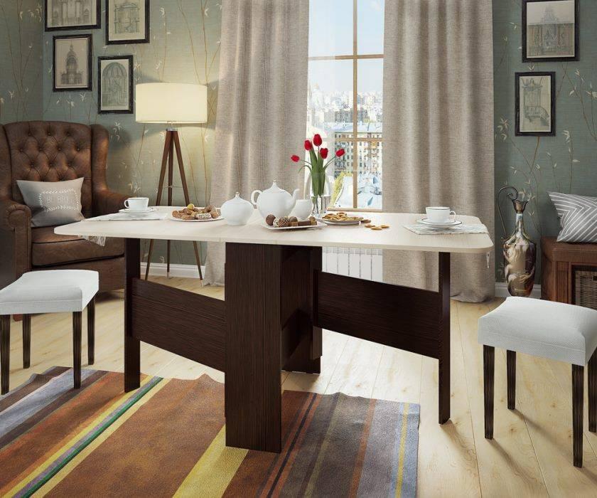 Стол-книжка: 110 фото правил применения складной мебели