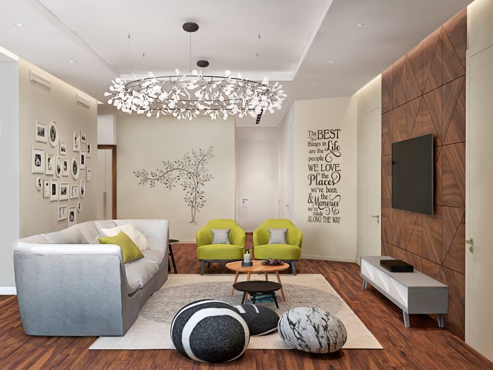 Телевизор в гостиной: лучшие варианты размещения и правила установки телевизора (165 фото)
