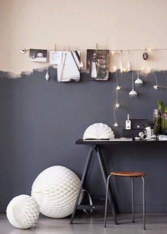 Покраска стен двумя цветами с фото, рекомендации