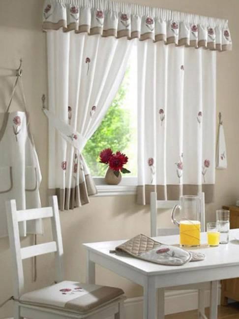 Занавески на кухню - современный декор и свежие идеи применения для создания уюта (190 фото)