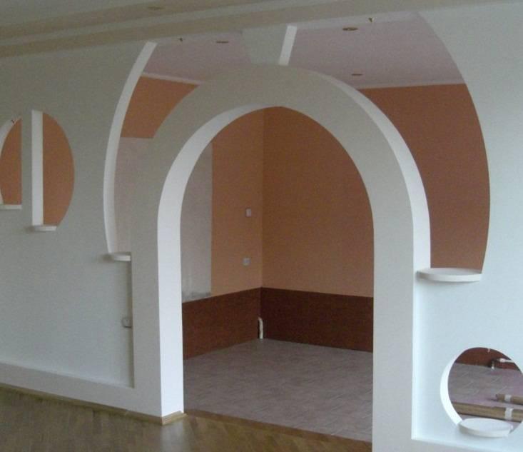 Монтаж межкомнатных арок из разных материалов своими руками
