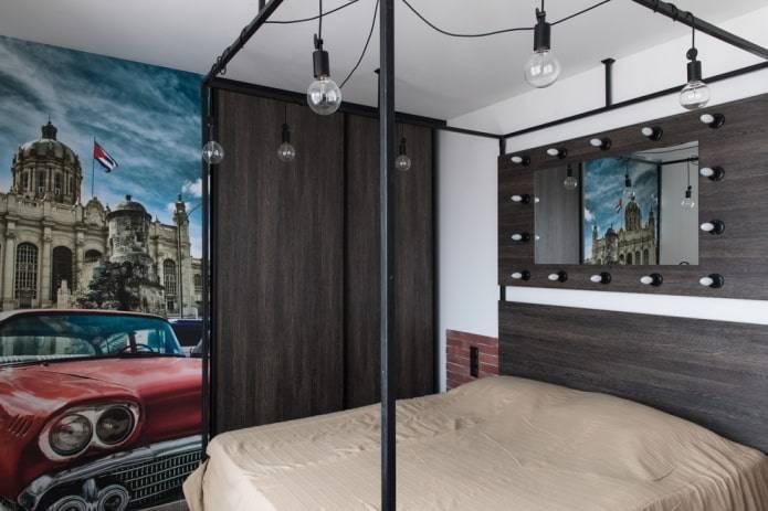 Дизайн спальни в стиле лофт - подробный гайд