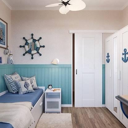 Как разработать дизайн комнаты для мальчика в морском стиле?
