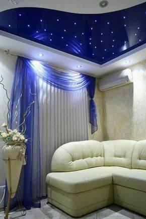 Потолок «звездное небо» в дизайне интерьера