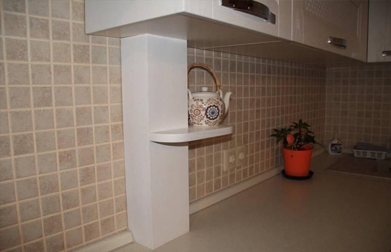 Как спрятать трубу от вытяжки на кухне: при помощи пластикового или короба из гипсокартона, под натяжным потолком.